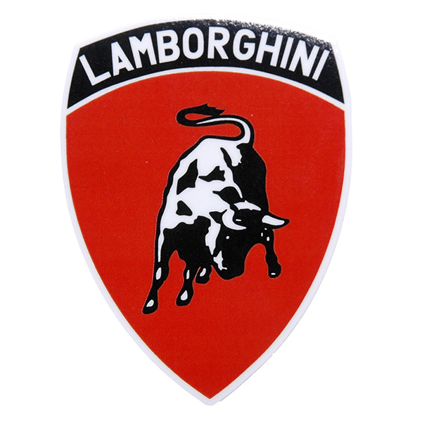 Lamborghini Emblem Sticker Red Small Italian Auto Parts Gagets