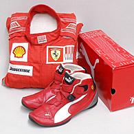 Scuderia Ferrari 2010 Mechanic Racing Suits Shoes Set Italian Auto Parts Gagets
