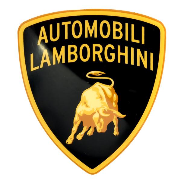 Lamborghini Emblem Shaped Sticker Italian Auto Parts Gagets