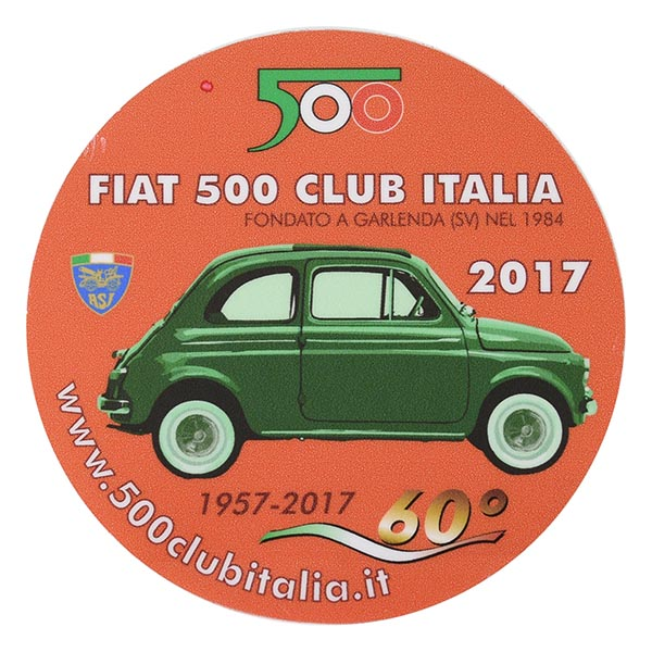 Fiat 500 Club Italia 2017 Stickerreverse Type Italian